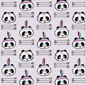 panda w/ arrow stack (purple) small scale
