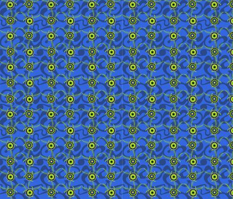 Fronds_dark_blue fabric by malolo on Spoonflower - custom fabric