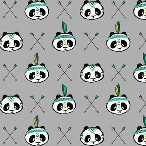 pandas w/ arrow cross (dark green) small scale