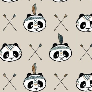 panda w/ arrow cross (green)
