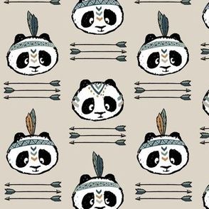 panda w/ arrow stack (green) || pandamonium