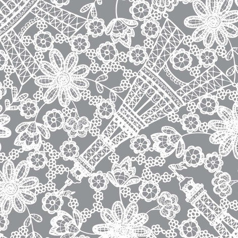 French Lace fabric by mag-o on Spoonflower - custom fabric