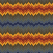 Rainbow Brickwork Chevron