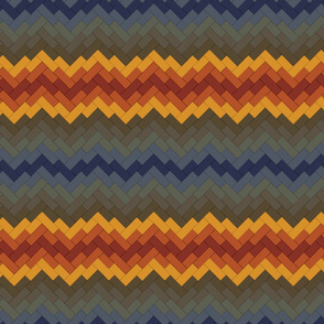Rainbow Brickwork Chevron