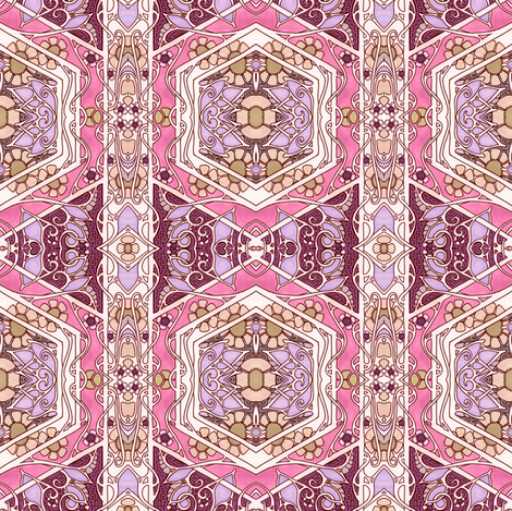 Pink and In Love fabric by edsel2084 on Spoonflower - custom fabric