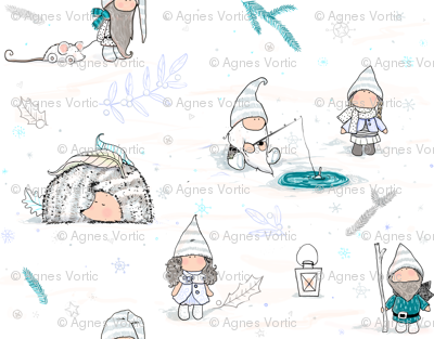 Snowy gnomes