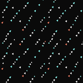 Small triangles in black background