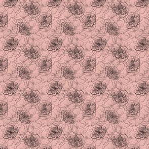 Poppy flower lace