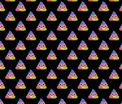 Rainbow Emoji Poop wallpaper - avamariecarmichael - Spoonflower