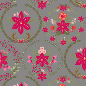 poinsettia_couronne_gris_L