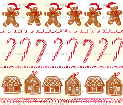 Gingerbread and candy cane