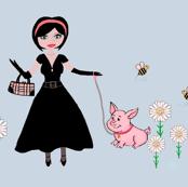 Teacup Pig takes Jess for a walk (med)