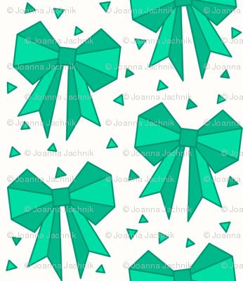 Origami Bows Giftwrap Asiajachnik Spoonflower