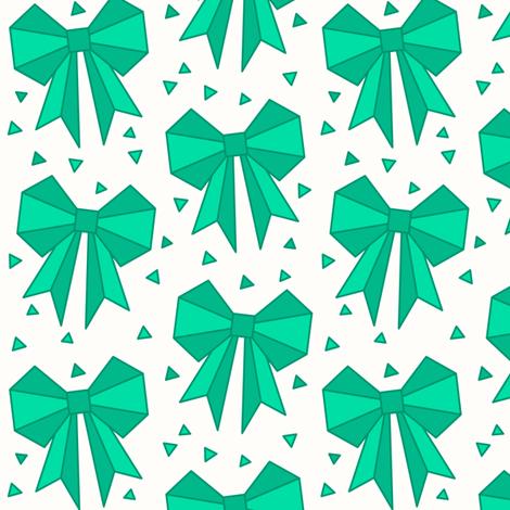 Origami Bows Fabric Asiajachnik Spoonflower