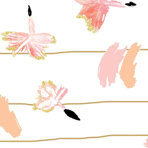 BlowingDandelions/Crib Sheet/Tan