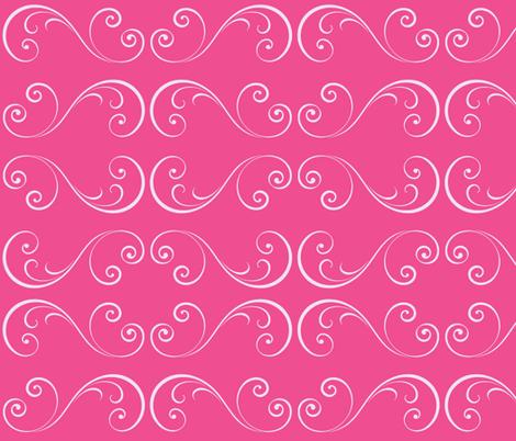 Flamingo Swirls fabric by thepinkhome on Spoonflower - custom fabric
