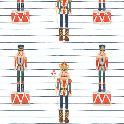 Nutcracker Toy Soldier Stripes fabric by shopcabin on Spoonflower - custom fabric