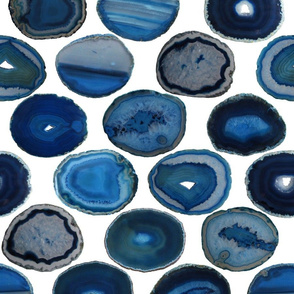 LARGE BLUE WHITE AGATE SLICES