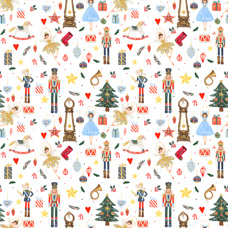 "4"" Winter Dreams Nutcracker / Toy Soldier fabric by shopcabin on Spoonflower - custom fabric"