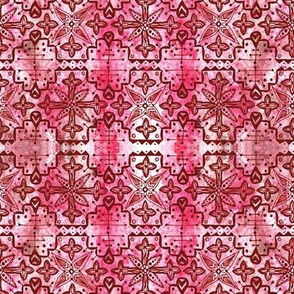 Ethnic Boho Pattern - Terracotta and Pink