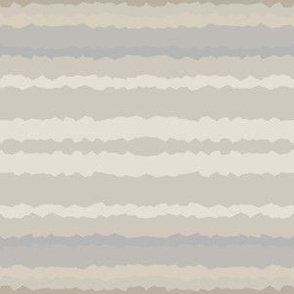 Beige Sand Horizontal Jagged Stripe