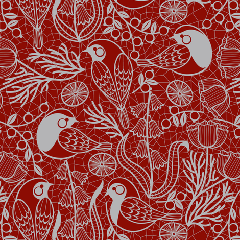 Festive Lace Garden fabric by cjldesigns on Spoonflower - custom fabric