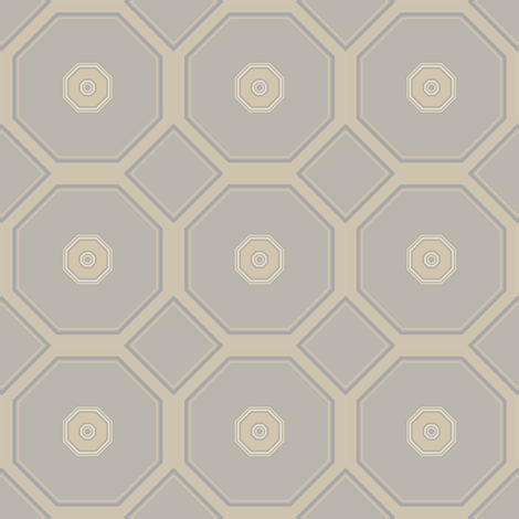Sandy Beige Octagons fabric by gingezel on Spoonflower - custom fabric