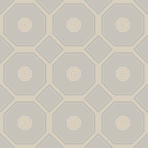 Sandy Beige Octagons