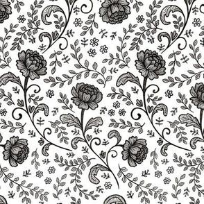 Lace Black on White