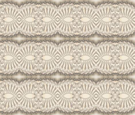 Beige Sand Fractal Stripe fabric by gingezel on Spoonflower - custom fabric