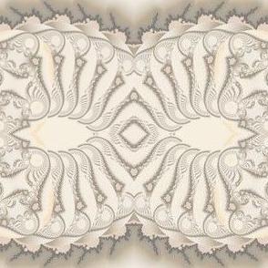Beige Sand Fractal Stripe