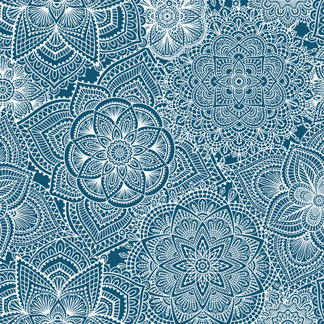 Doily Dayz fabric by groovity on Spoonflower - custom fabric
