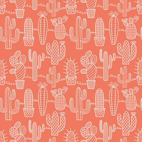 cactus_lace fabric by la_fabriken on Spoonflower - custom fabric