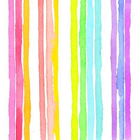 stripes rainbow fabric by erinanne on Spoonflower - custom fabric