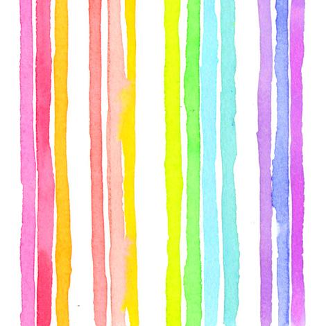 stripes rainbow fabric by erinanne on Spoonflower - custom fabric