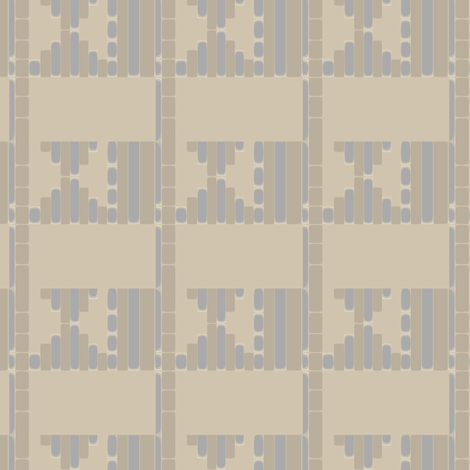 Beige Sand Tribal Pattern fabric by gingezel on Spoonflower - custom fabric