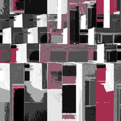 Cityscape in Gray and Rose