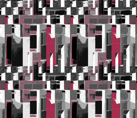 Cityscape in Gray and Rose fabric by mammajamma on Spoonflower - custom fabric