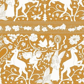 Antique Lace - cream on gold