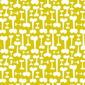 Give A Dog A Bone - Pet Pattern Citron Yellow