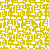 Give A Dog A Bone Pet Pattern Citron Yellow