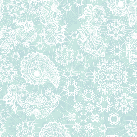 Lacy Snowflake  fabric by pixabo on Spoonflower - custom fabric