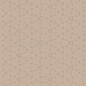 Beige on Beige Triangle Geometric