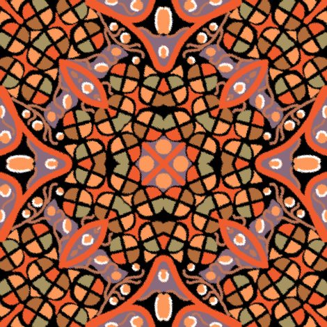 Kaleidoscope Autumn Colors fabric by eclectic_house on Spoonflower - custom fabric