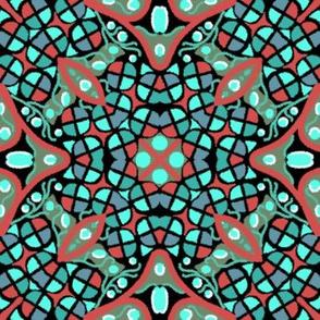 Kaleidoscope Turquoise Rose Teal