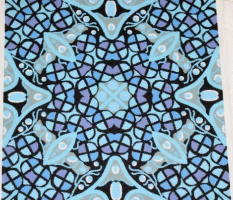 Kaleidoscope Blue Purple Moss