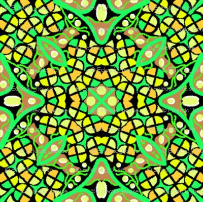 Kaleidoscope Yellow Green
