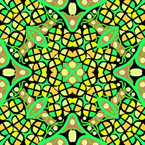 Kaleidoscope Yellow Green