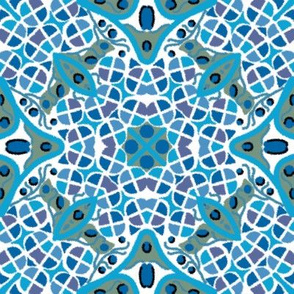 Kaleidoscope Blue Purple White