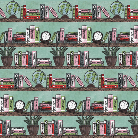 There Is No Enjoyment Like Reading  fabric by sweetsequels on Spoonflower - custom fabric